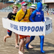 Captain Australia And His Yeppoon SLSC Team-mates Practise For The Bare Bottom Boat Races-gallery
