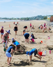 Teams Take Part In The Aussie Day Sand Sculpture Competition on Yeppoon Main Beach-gallery