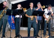The Brass Section Of The Club 28 Showband In Action During The Performance-gallery
