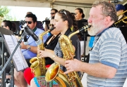 The Brass Section Of The Teachers Incorporated Big Band In Full Swing-gallery